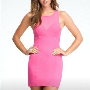 Bebe hot 🌷 pink underlay racer back mini dress S